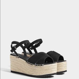 Bershka black platforms